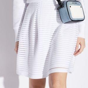 Armani exchange sexy fun white skirt